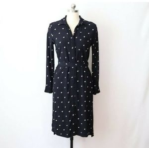 Ann Taylor petite dress s SP Polka dot.